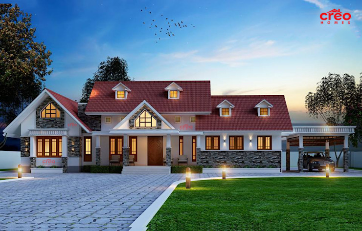 Top Ten Construction Companies in Kerala Asian style houses by Creo Homes Pvt Ltd Asian