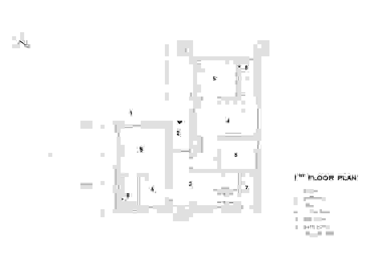 1층 평면.: SPACEPRIME ARCHITECTURE의 현대 ,모던