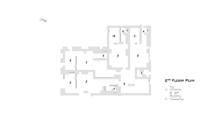 2층 평면.: SPACEPRIME ARCHITECTURE의 현대 ,모던