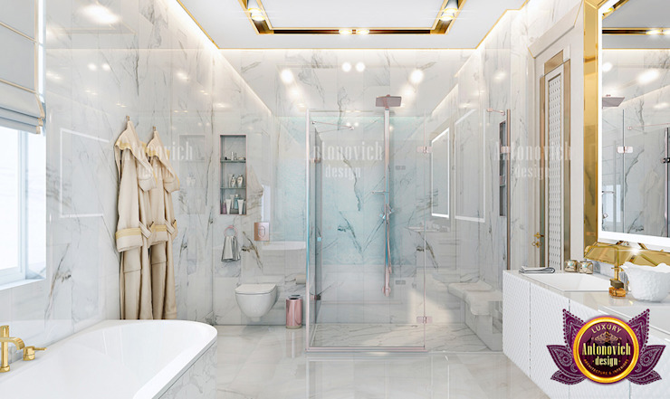 Outstanding Bathroom Interior for a Huge Home by Luxury Antonovich Design