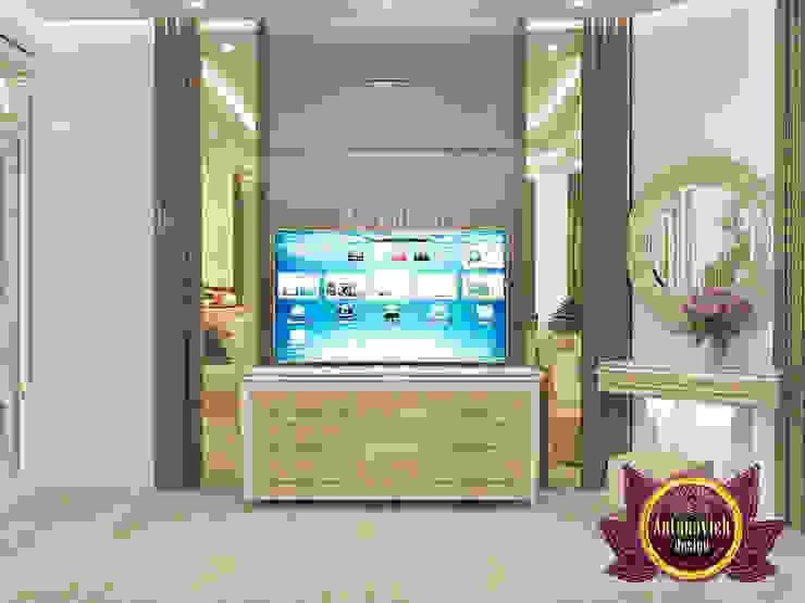 Grand Elegant Twin Bed Interior Design by Luxury Antonovich Design