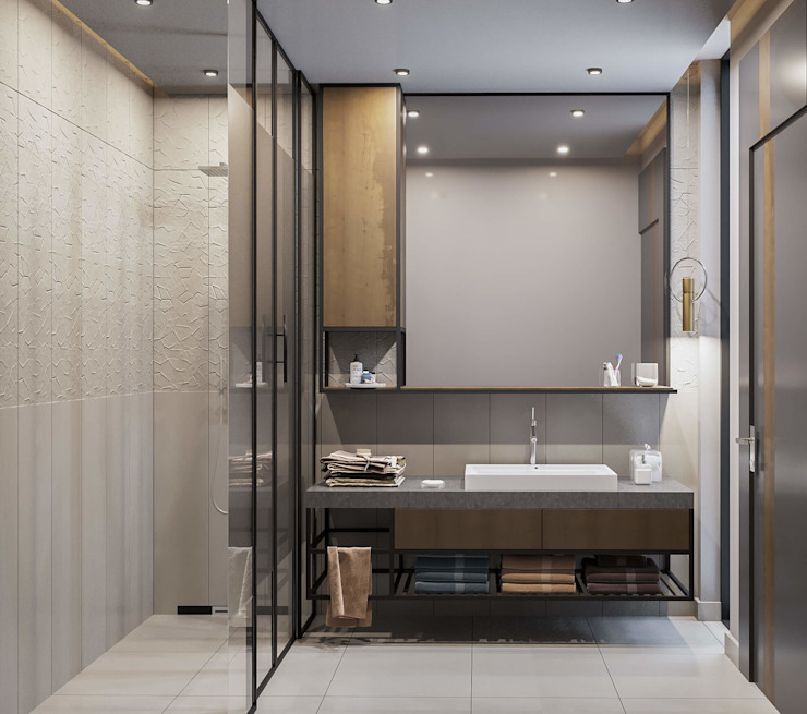 ANTE MİMARLIK  – Ebeveyn banyosu: modern tarz , Modern