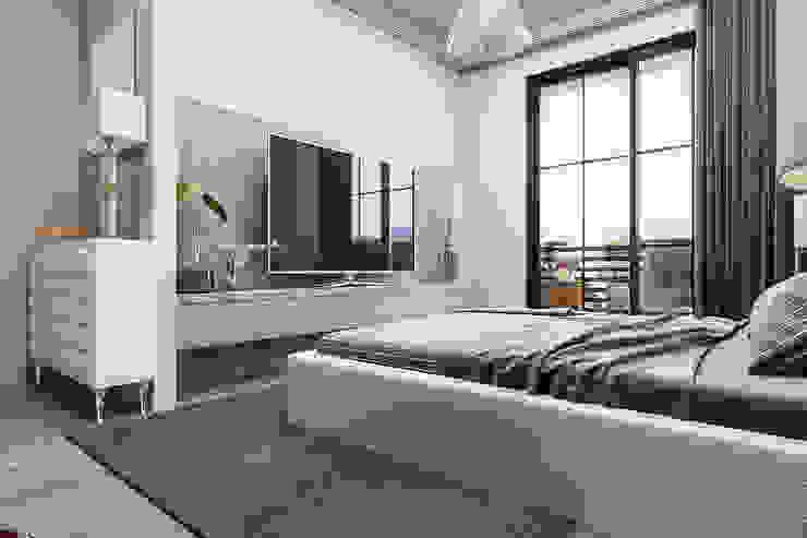 Tv ünitesi Modern Yatak Odası ANTE MİMARLIK Modern
