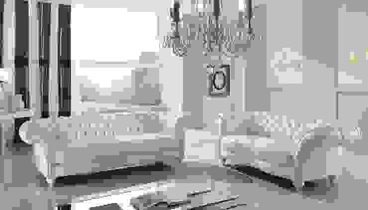 Modern living room by MUEBLERIA Y CARPINTERIA MADEYRA Modern Wood Wood effect