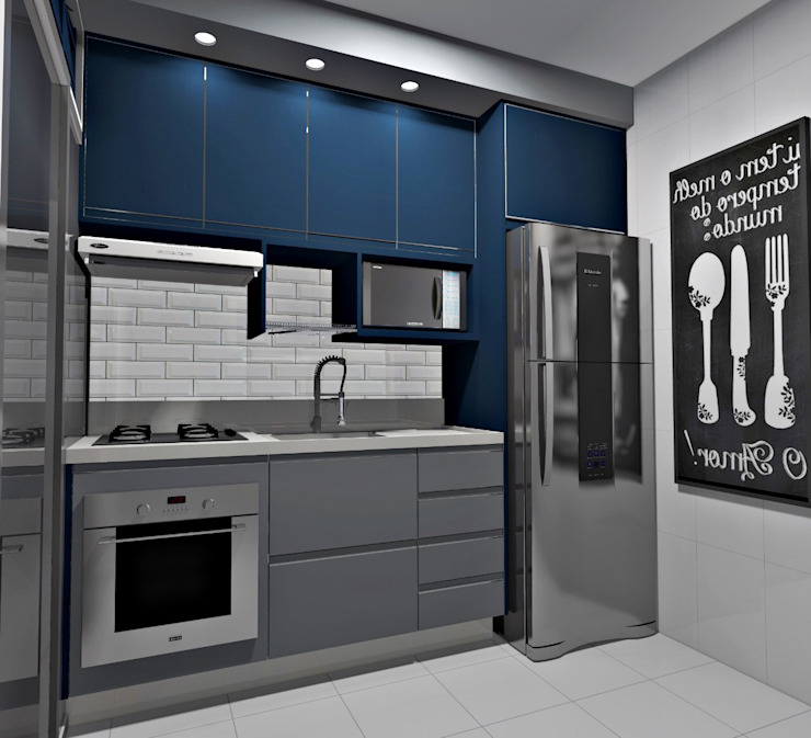 Cocinas pequeñas de estilo  por Planejadecor,