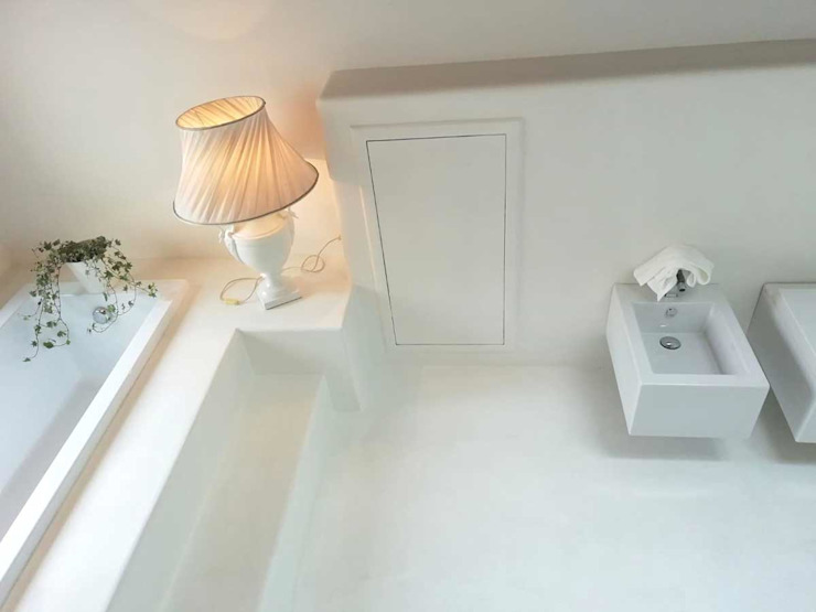 Pavimento Moderno BathroomDecoration Bahan Sintetis White