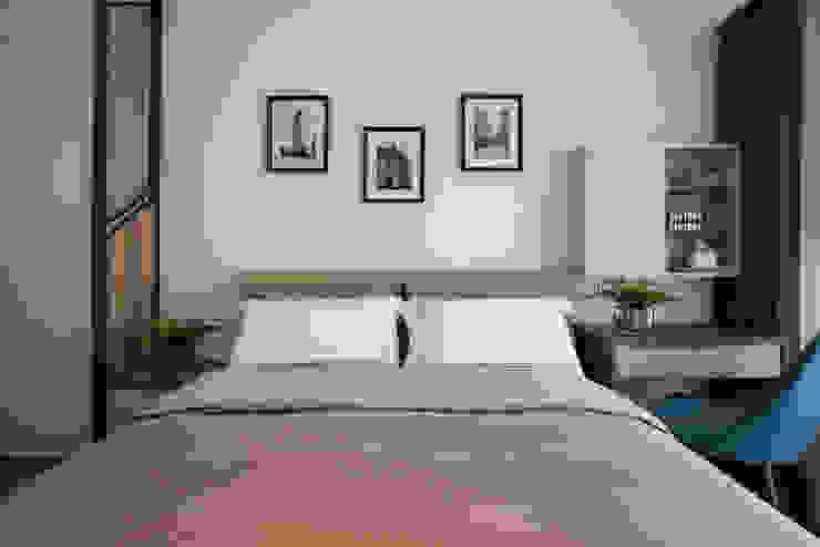 主臥房 根據 解構室內設計 日式風、東方風 木頭 Wood effect