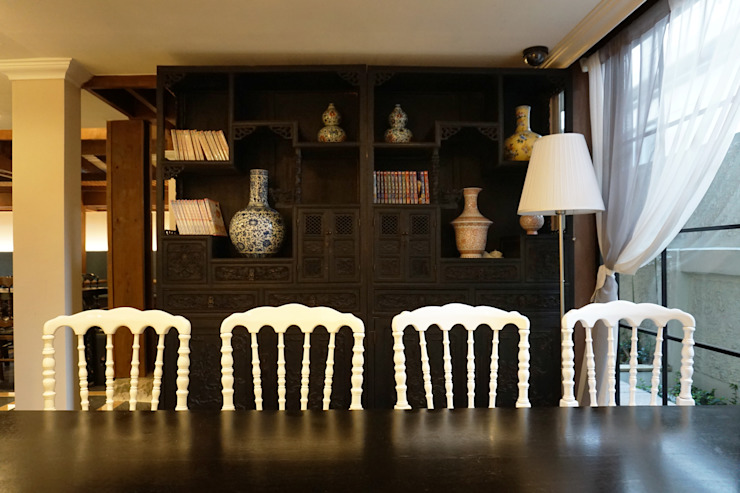 CAFE INTERIOR 아시아스타일 서재 / 사무실 by 감자디자인 한옥