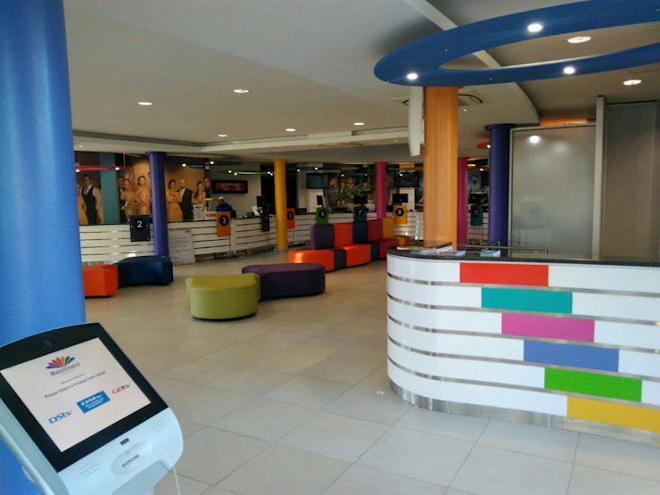 Multichoice counter and Reception by Smartdesigns & Turnkey Projects PTY Ltd. Modern Wood Wood effect