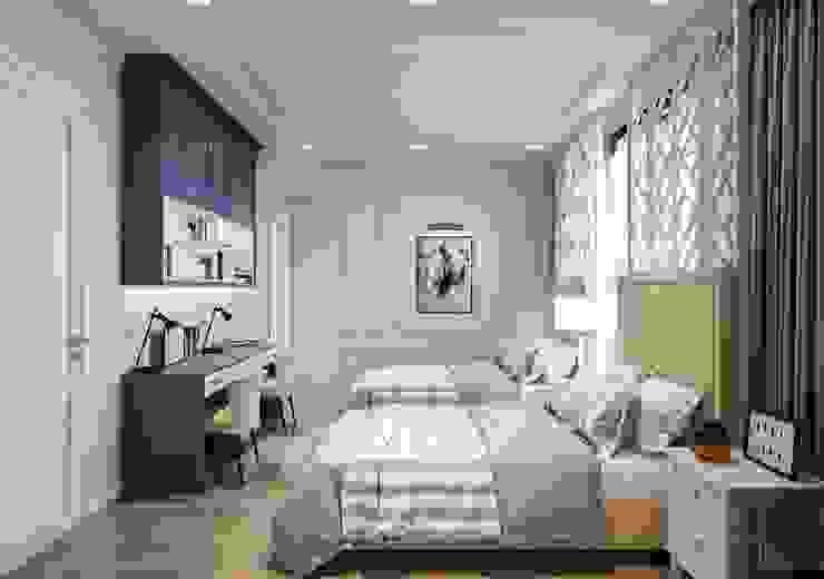 Phong cách Art Deco và New York Style kết hợp trong thiết kế nội thất căn hộ Vinhomes Golden River Phòng trẻ em phong cách hiện đại bởi ICON INTERIOR Hiện đại