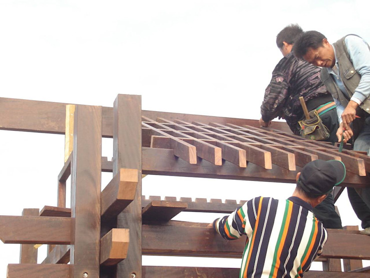 小木屋 根據 茂林樓梯扶手地板工程團隊
