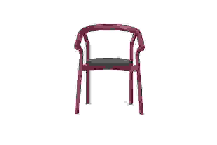 DORA chair - Luxury Red por DAM Mediterrânico Madeira Acabamento em madeira