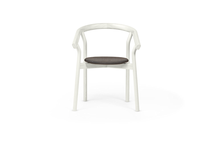 DORA chair - Warm White por DAM Mediterrânico Madeira Acabamento em madeira