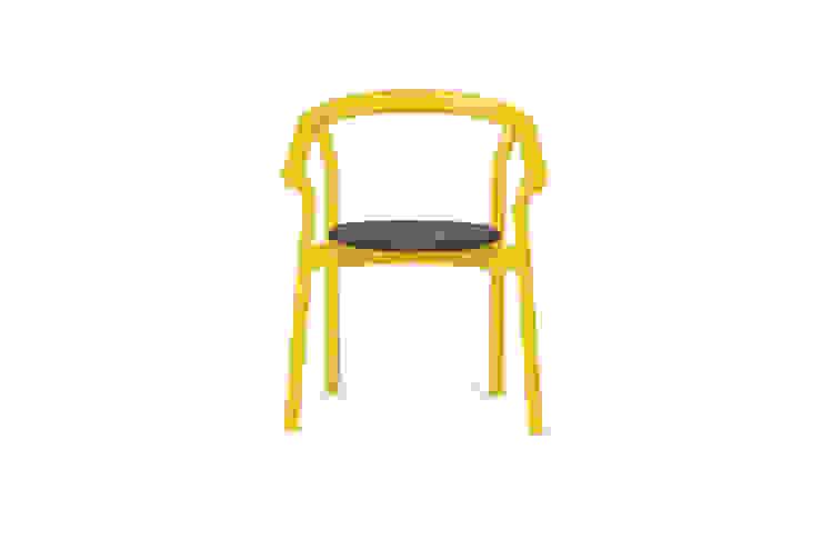 DORA chair - Dry Yellow por DAM Mediterrânico Madeira Acabamento em madeira
