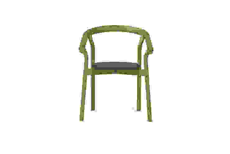DORA chair - Sleepy Green por DAM Mediterrânico Madeira Acabamento em madeira