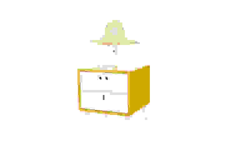 MARIA bedside table - Dry Yellow por DAM Campestre Madeira Acabamento em madeira