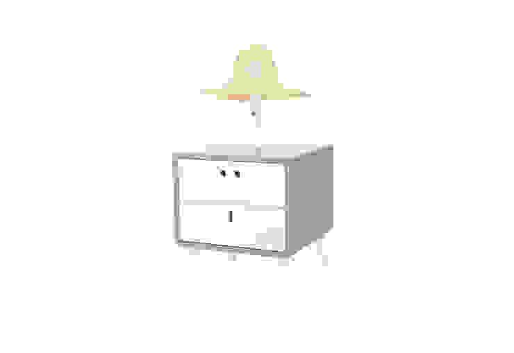 MARIA bedside table - Elegant Grey por DAM Campestre Madeira Acabamento em madeira