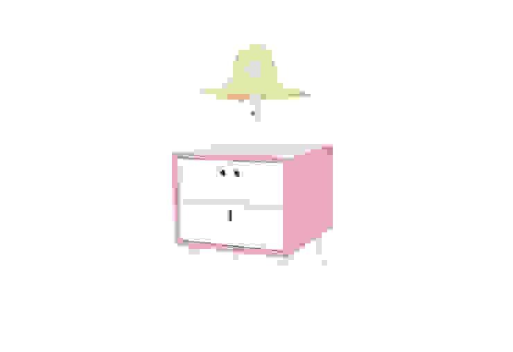 MARIA bedside table - Retro Pink por DAM Campestre Madeira Acabamento em madeira