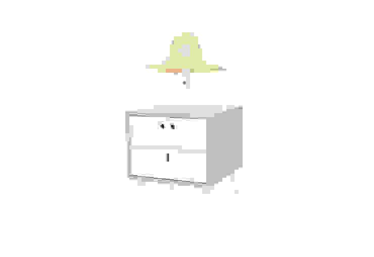 MARIA bedside table - Soft Green por DAM Campestre Madeira Acabamento em madeira
