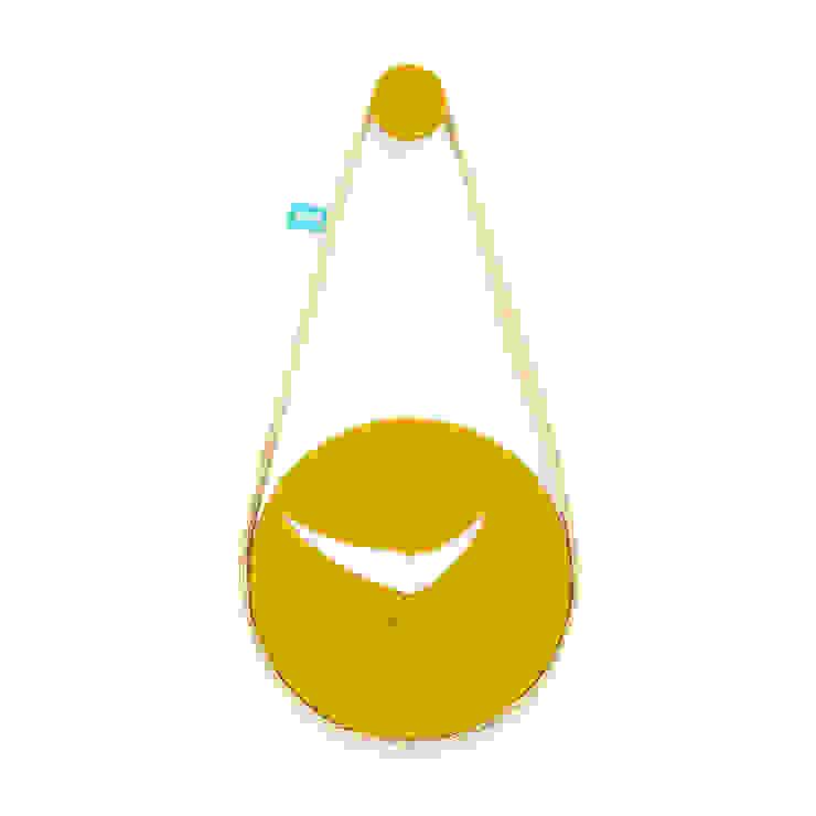 silva (relógio de parede) - Dry Yellow por DAM Campestre Sisal/palha Azul