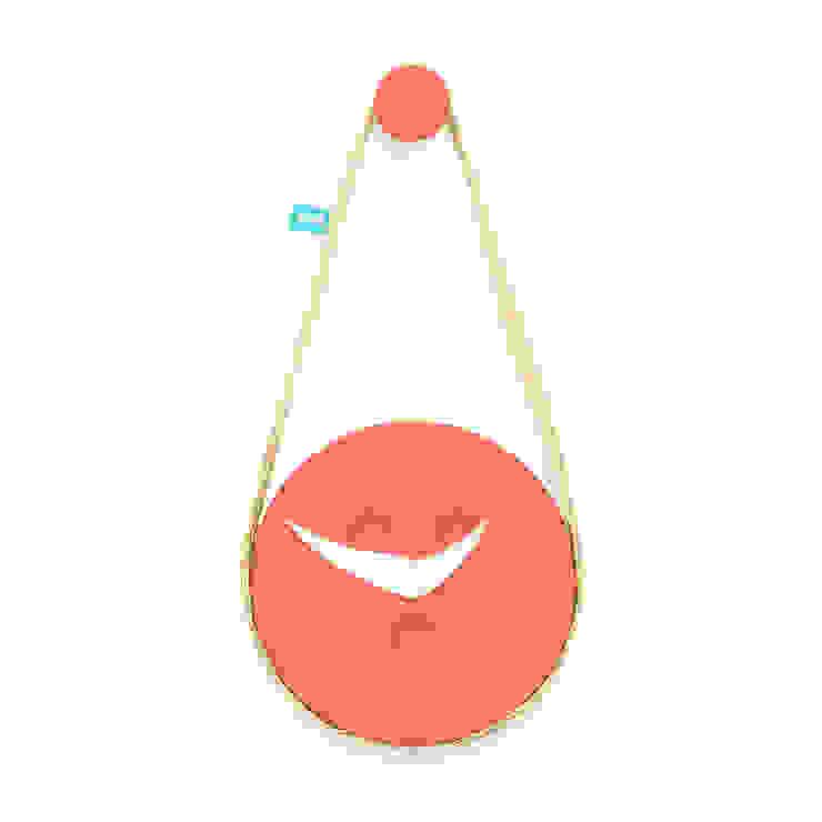 SILVA (relógio de parede) - Fond Orange por DAM Campestre Sisal/palha Azul