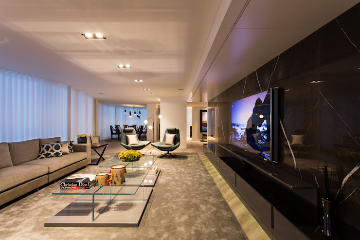 APARTAMENTO VC Modern Living Room by 1870 ARQUITECTURA   INTERIORES Modern