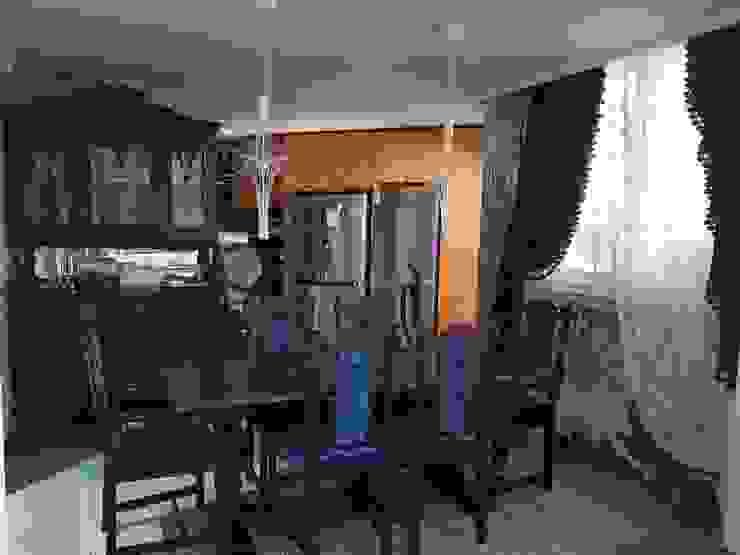 엔틱한 분위기의 펜트하우스 아파트인테리어 스칸디나비아 다이닝 룸 by 주식회사 큰깃 북유럽
