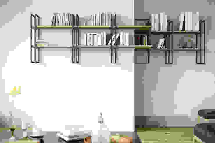 Libreria a parete Shell Soggiorno moderno di Damiano Latini srl Moderno Ferro / Acciaio