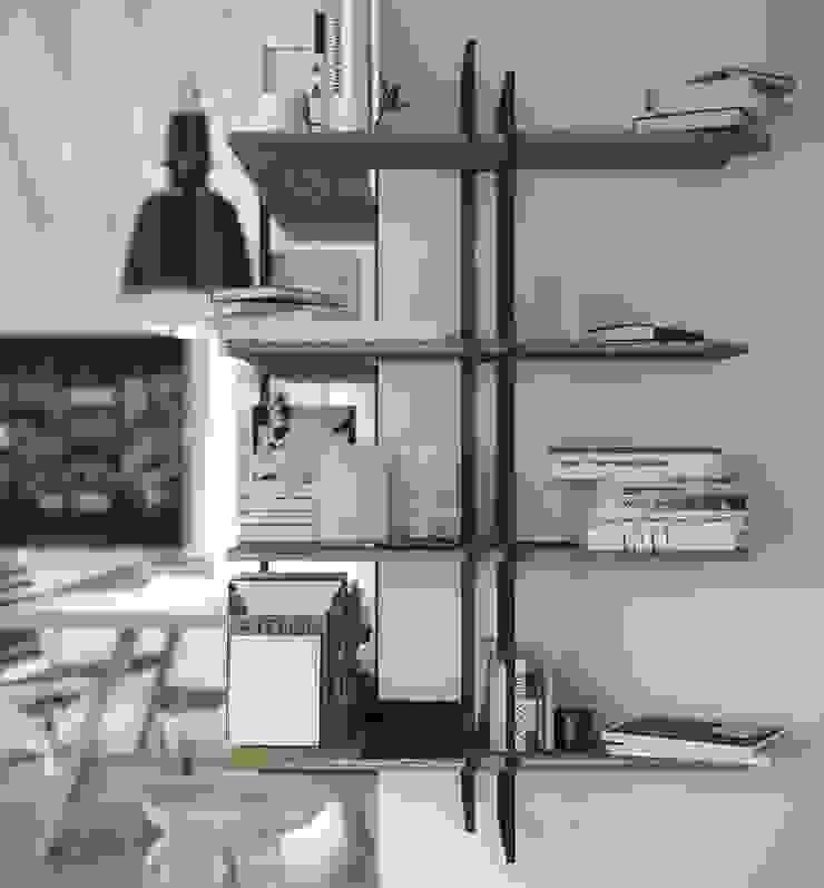Libreria ufficio Shell Studio moderno di Damiano Latini srl Moderno Ferro / Acciaio