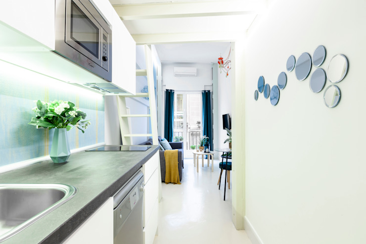 Apartamento en Gran Vía. Madrid de Estudio Mercedes Arce Ecléctico Cerámico
