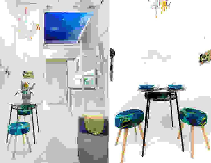 Apartamento en Gran Vía. Madrid de Estudio Mercedes Arce Ecléctico Aluminio/Cinc