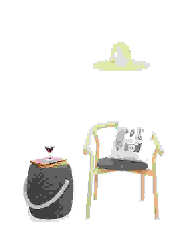 DORA Chair por DAM Mediterrânico Madeira Acabamento em madeira