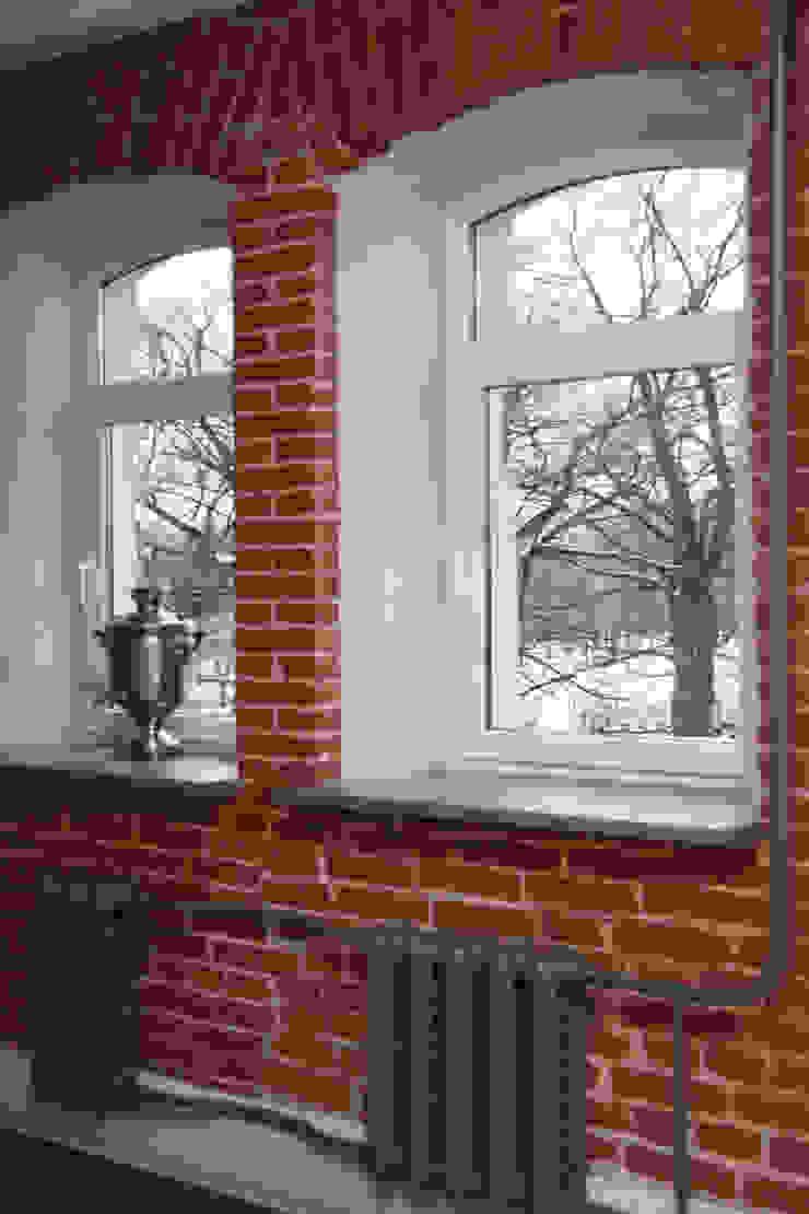 Кухня в стиле Лофт Rustic style dining room by Елена Колембет Rustic Bricks