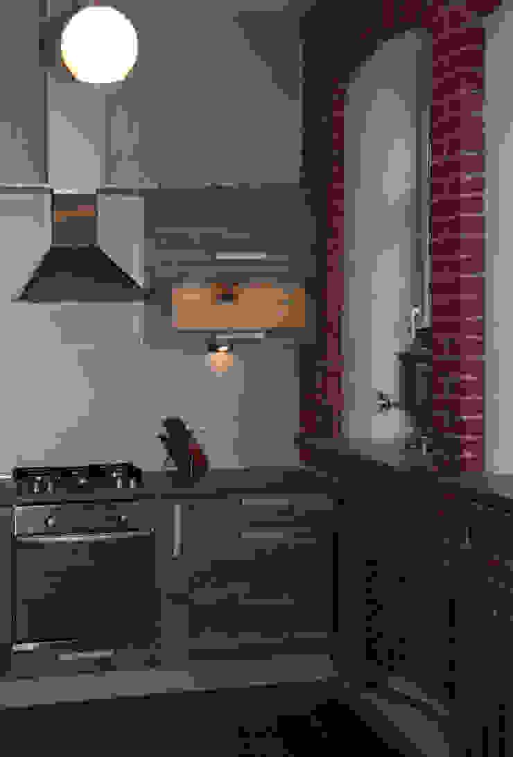 Кухня в стиле Лофт Rustic style dining room by Елена Колембет Rustic Chipboard