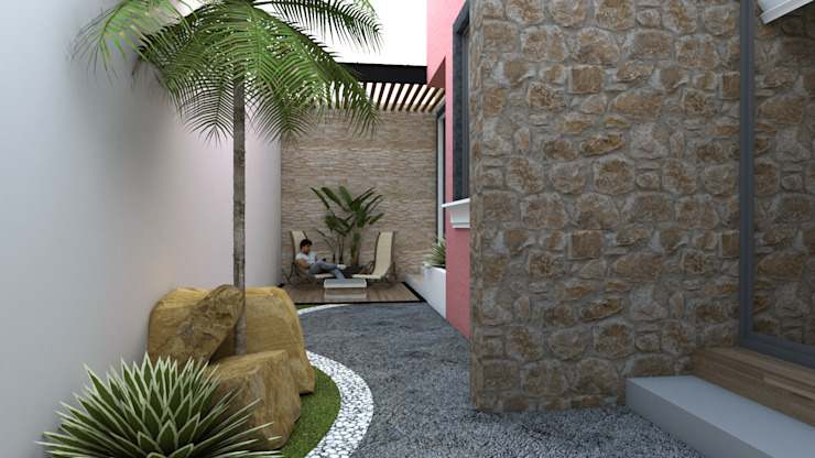Renders Casa CE Jardines modernos de DISARQ ARQUITECTOS. Moderno
