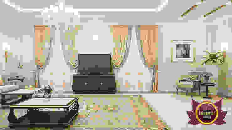 Sleek Stylish Living Room Interior by Luxury Antonovich Design