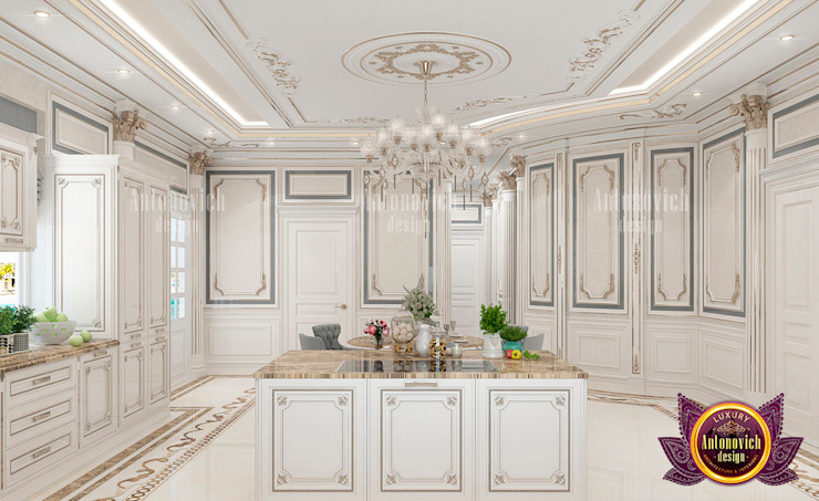Royal Luxury Kitchen and Dining Area by Luxury Antonovich Design