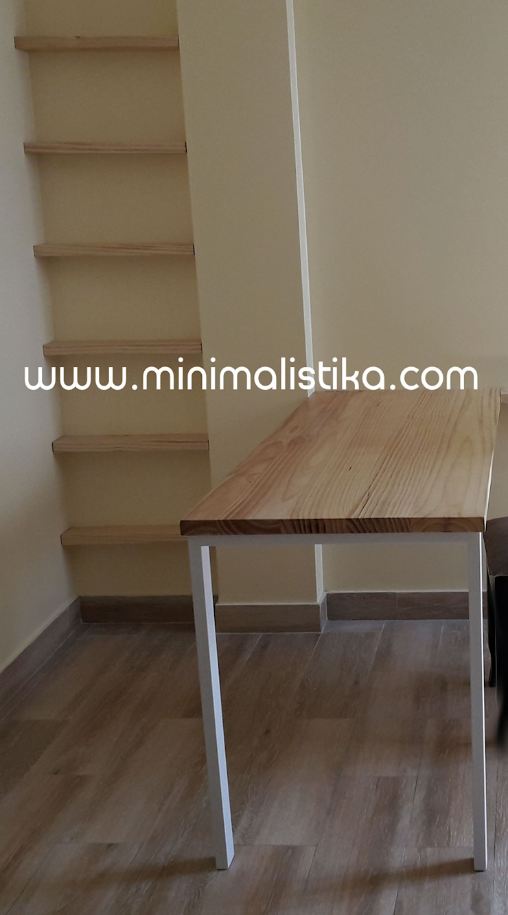 Minimalist dining room by Minimalistika.com Minimalist Solid Wood Multicolored