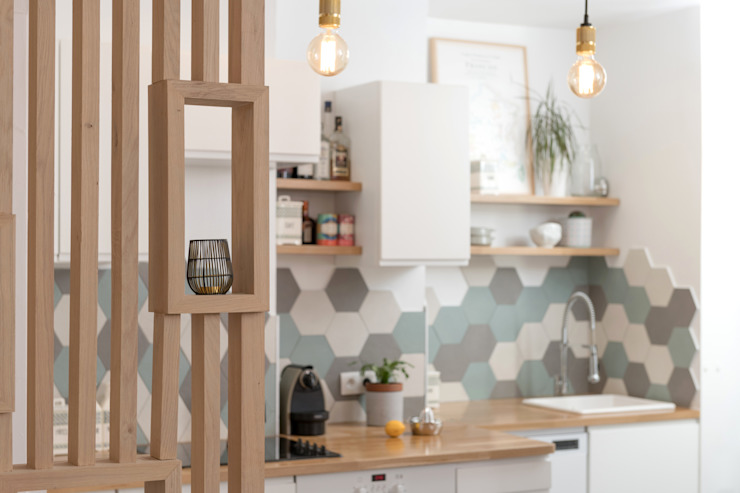 Chez Sophie et Morgan Cuisine moderne par Camille BASSE, Architecte d'intérieur Moderne