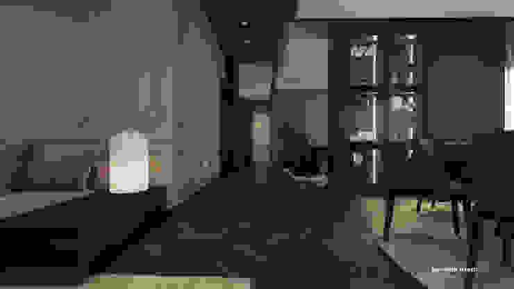Reception l Corridor Modern corridor, hallway & stairs by ICONIC DESIGN STUDIO Modern