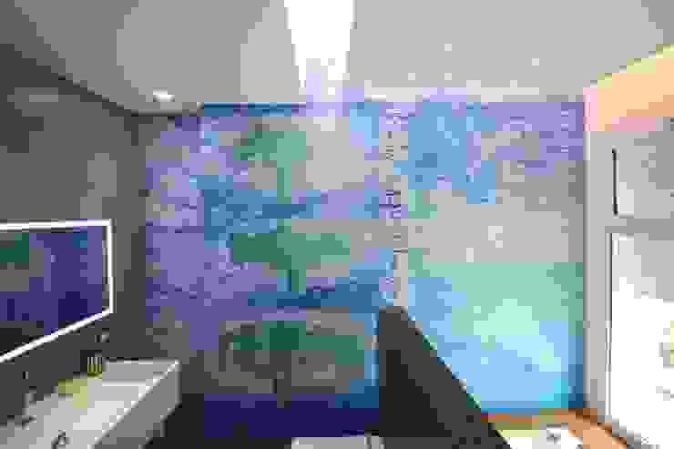 Kamar Mandi Modern Oleh Giuseppe Rappa & Angelo M. Castiglione Modern Kayu Wood effect