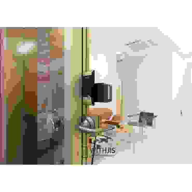 ALU-SW (1SW, 편개형 여닫이도어) 디지털락 모던 스타일 쇼핑 센터 by WITHJIS(위드지스) 모던 알루미늄 / 아연