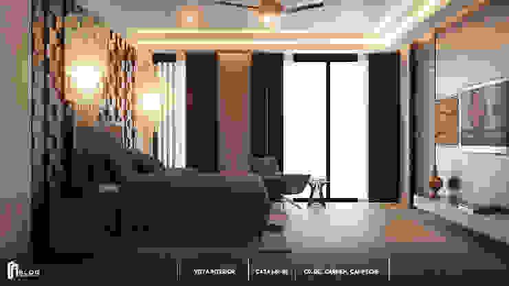 Recamara principal Dormitorios modernos de BLDG Arquitectos Moderno Madera Acabado en madera