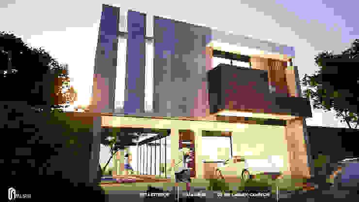 Fachada Principal de BLDG Arquitectos Moderno Concreto