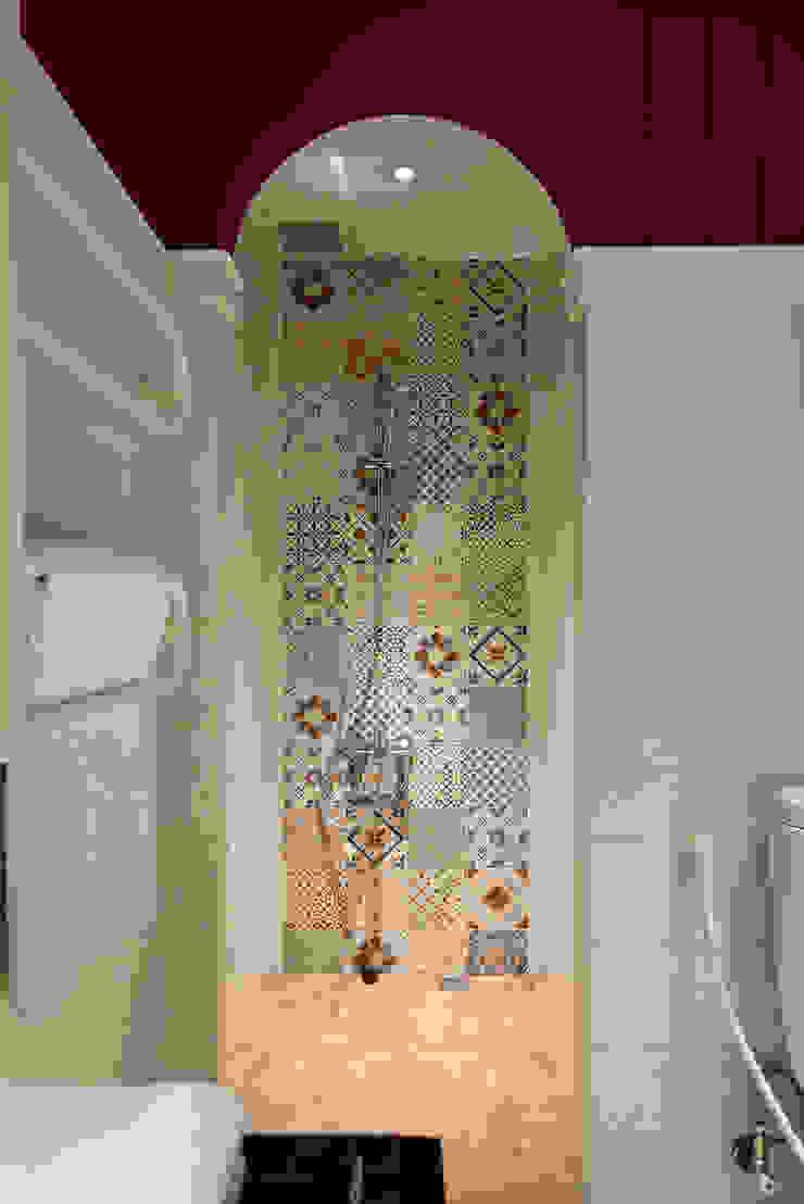 生活與設計平行 寬林室內裝修設計有限公司 衛浴浴缸與淋浴設備 磁磚
