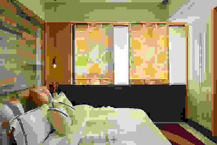 生活與設計平行 寬林室內裝修設計有限公司 臥室布織品 布織品 Yellow