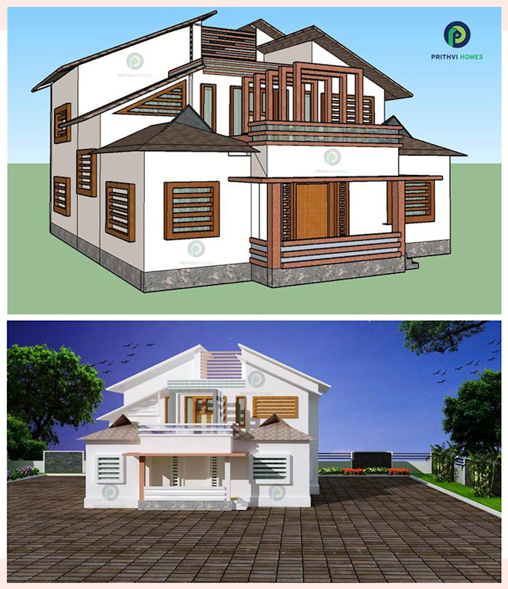 Leading house builders thrissur by Prithvi Homes Country