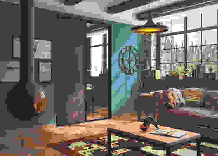 Kazed Living roomCupboards & sideboards Fake Leather Brown