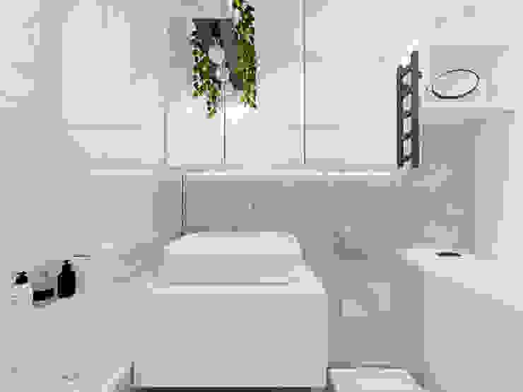 Biała łazienka Nowoczesna łazienka od Polilinia Design Nowoczesny
