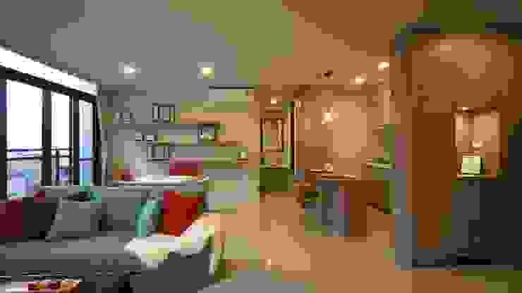 餐廳 根據 璞玥室內裝修有限公司 現代風 塑木複合材料